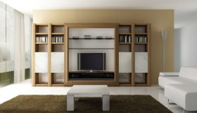 Biblioteca din lemn PAL cu suport televizor pentru Living MB238