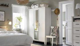 Mobilier lemn masiv alb pentru dormitor MB179