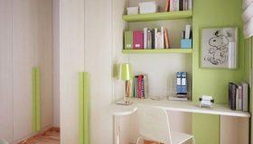 mobilier-camera-copii-alb-cu-verde