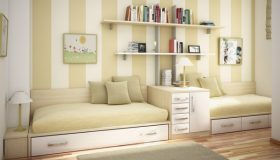 mobilier-camera-copii-bej