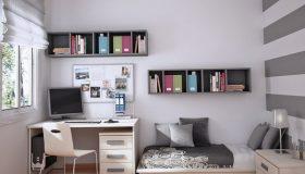 mobilier-camera-copii-gri-cu-alb