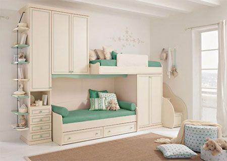 mobilier-camera-copii-lenjerie-verde