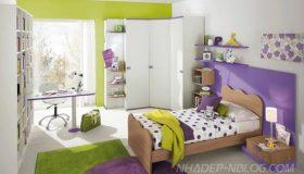 mobilier-camera-copii-mov-cu-verde