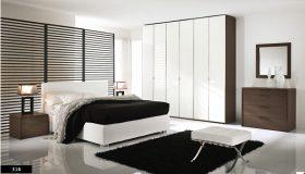 mobilier dormitor alb contrast ridicat