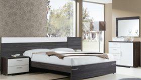 mobilier dormitor alb cu gri inchis 2