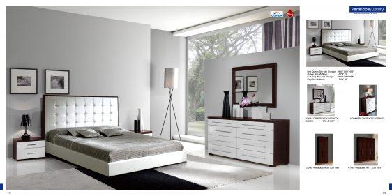 mobilier dormitor alb cu maro