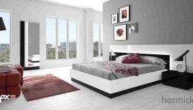 mobilier dormitor alb negru 4