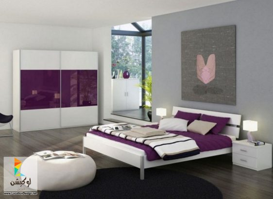 mobilier dormitor alb mov MB 187