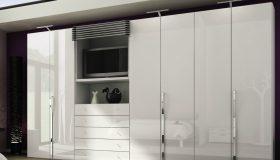 mobilier dormitor alb reflectiv