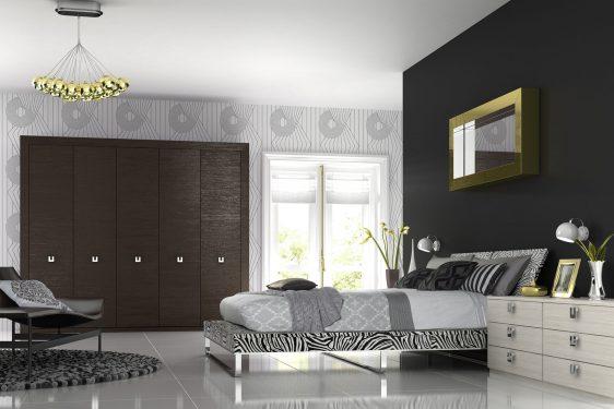 Mobilier dormitor culori mixte