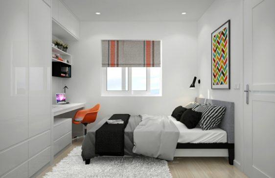 mobilier dormitor gri nuante mixte
